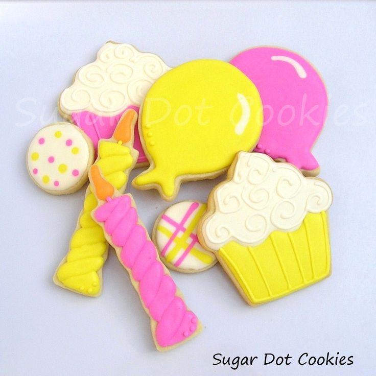 26 best Birthday Cooki... Round Birthday Sugar Cookies