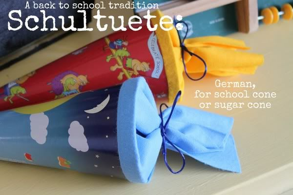 Schultuete: A German Back To School Tradition | Fill cones with school supplies & toys for the first day of school
