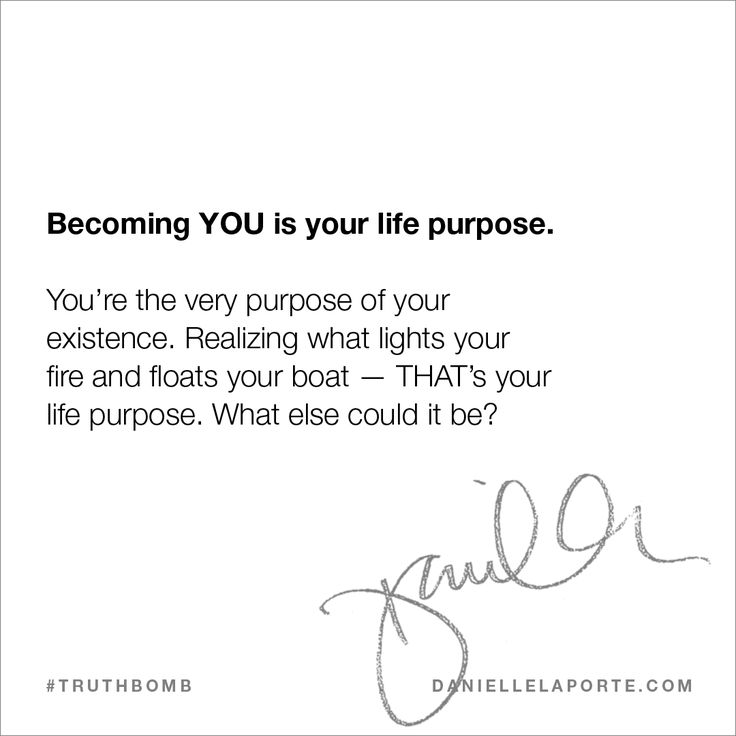 This #Truthbomb came from my post: what's your life purpose? Click to read the full post.