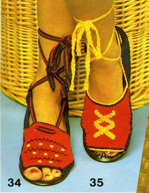Gehaakte sandalen foto 001 - Diversen