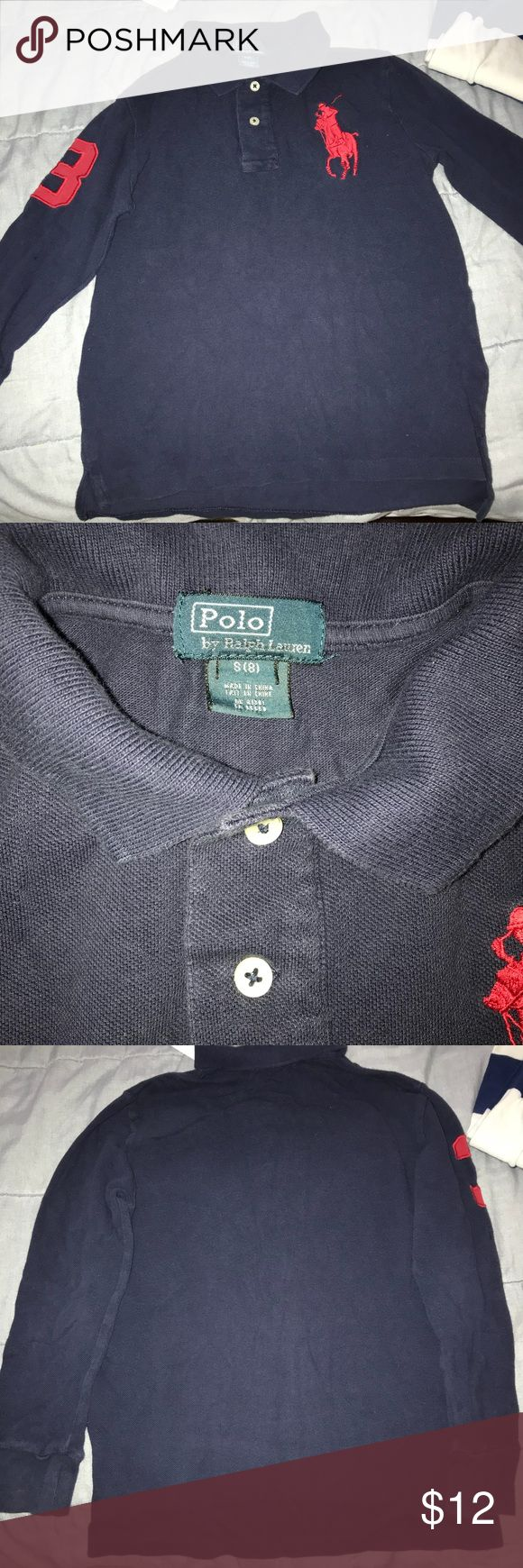 Polo shirt Blue polo collar shirt Polo by Ralph Lauren Shirts & Tops Tees - Long Sleeve