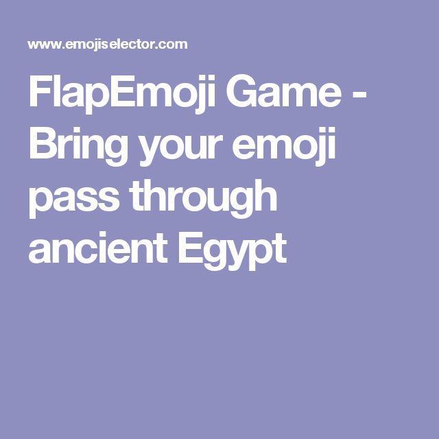 FlapEmoji Game - Bring your emoji pass through ancient Egypt