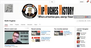 """""""HipHughes History is a series of upbeat, personable and educational lectures designed for students and lifelong learners. Videos primarily focus on US History and Politics but span across World History and general interest. So sit back and enjoy the antics of HipHughes as he melds multimodality into a learning experience.""""HipHughes History is a YouTube channel with videos that cover both current events (presenting both sides of political issues) and historical events. Popular playl..."""
