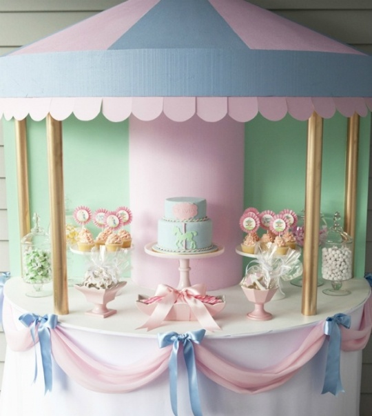 Carousel desserts table