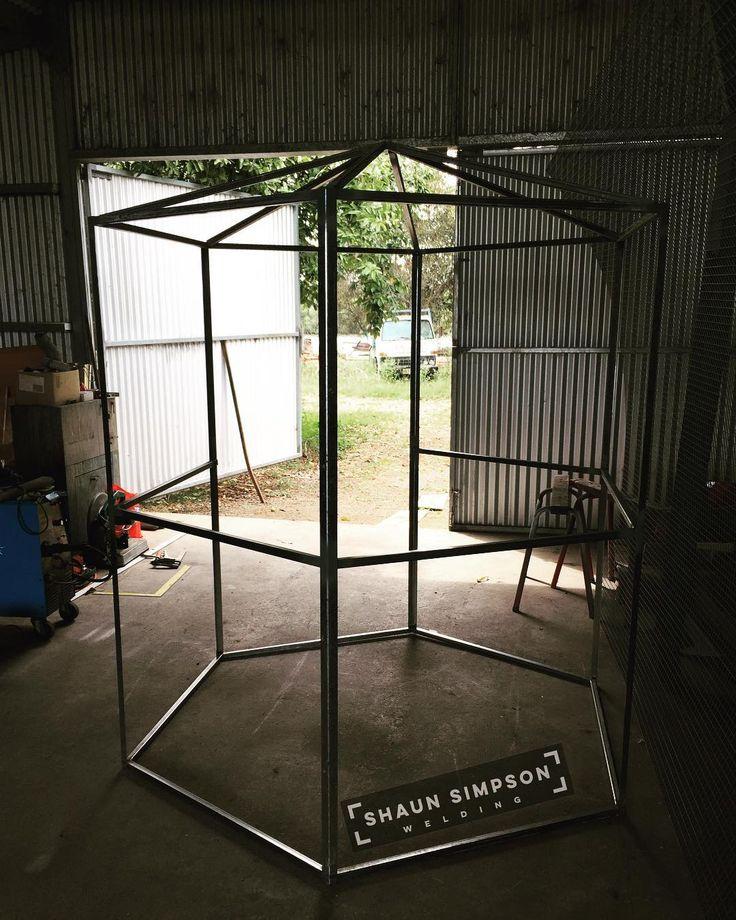 Bloody big bird cage  . . . #birdcage #birdie #birdland #birdgang #birdsofinstagram #birdy #instabird #birdlover #featheredfriends #welding #welder #fabrication #weld #weldlife #metalwork #metal #migwelding #weldart #steel #shaunsimpsonwelding