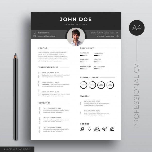 Professiona Cv Template Design Cv Template Resume Design Template Template Design