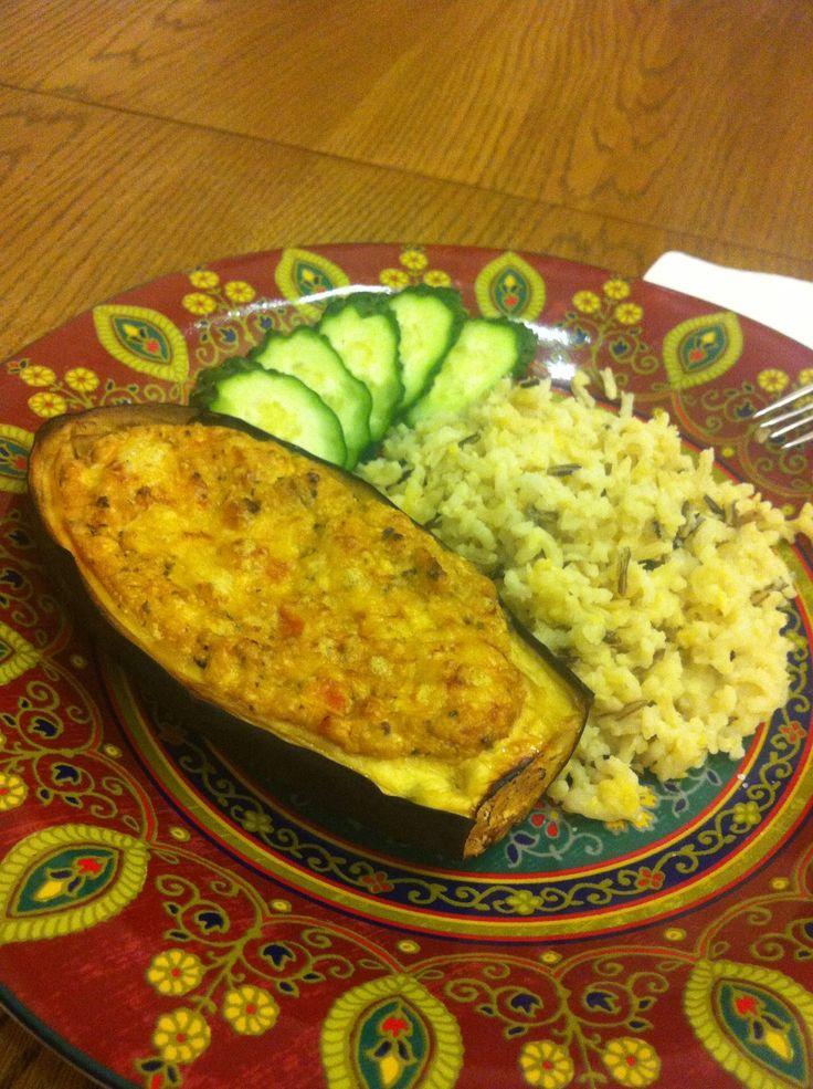 Фаршированные баклажаны в духовке — рецепт с фото и видео | Добрые вегетарианские рецепты с фото и видео