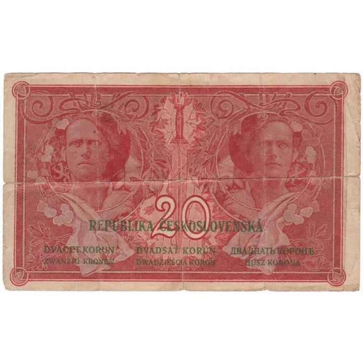 Československo - bankovka I. emise:  20 korun 1919