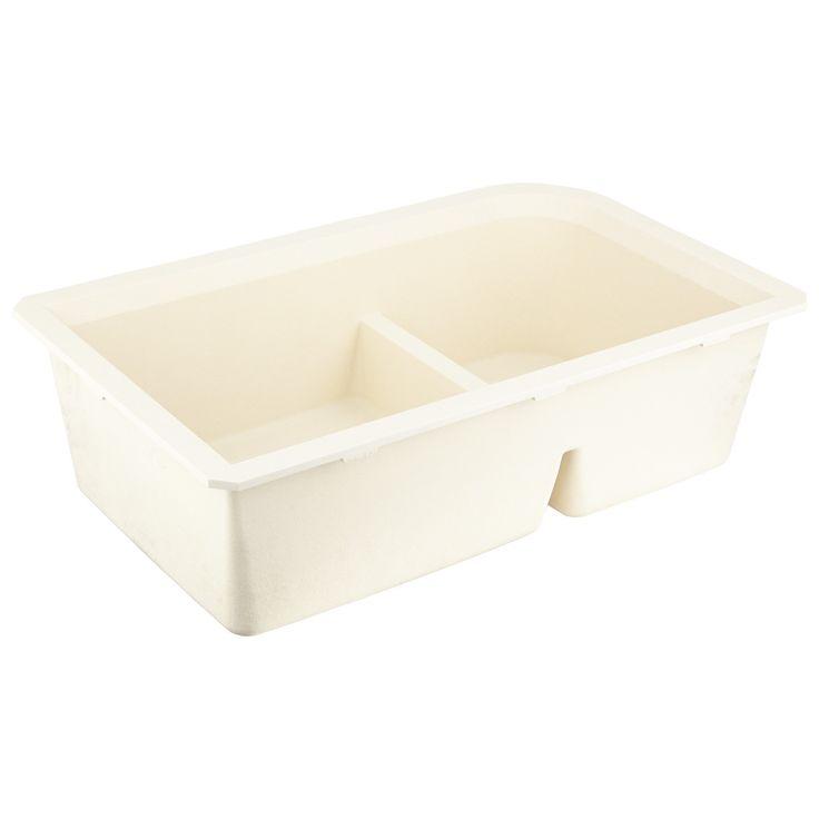 "32""+Fayette+Double-Bowl+Undermount+Granite+Composite+Sink+-+Cream"