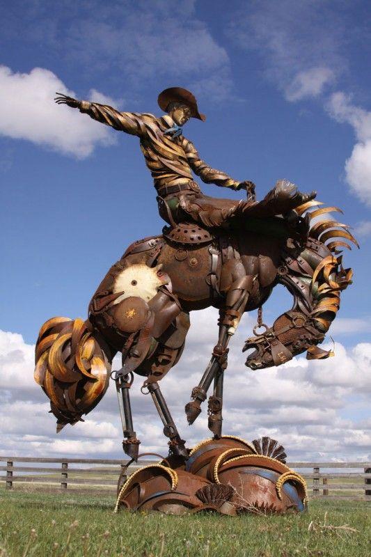 John Lopez Metal Sculpture | Recyclart