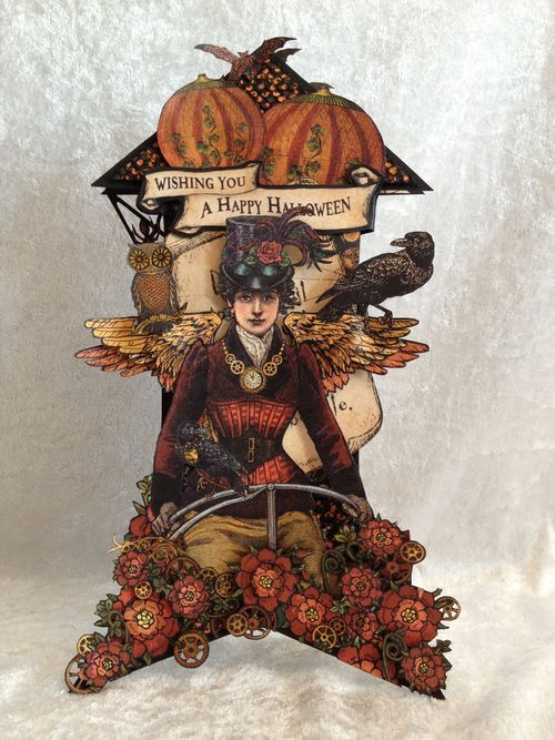 Anne created this amazing rocket Steampunk Spells tag - isn't this glorious! Click to see more pictures #graphic45 #tags