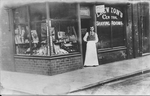 Newtons Shaving rooms and shop Bell Street circa 1920s