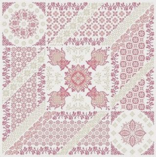 Aquarelle: ✿CARRÉ ROSE