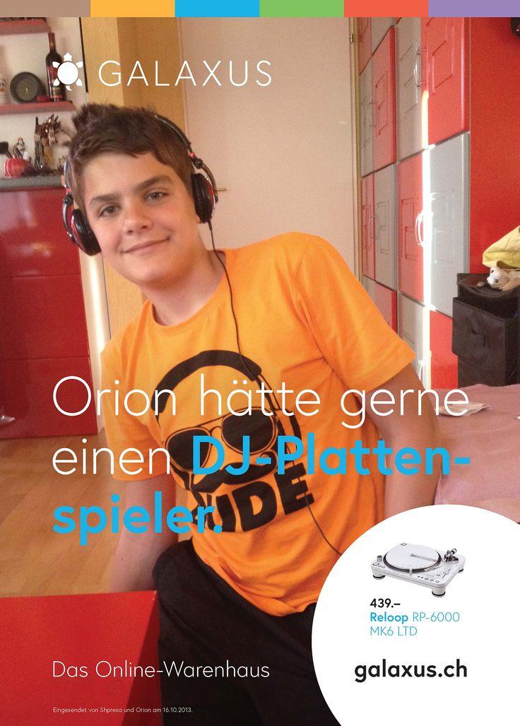 Orion hätte gerne einen DJ-Plattenspieler. #GalaxusLive