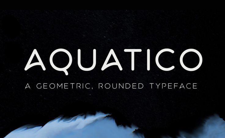 Free Font: Aquatico