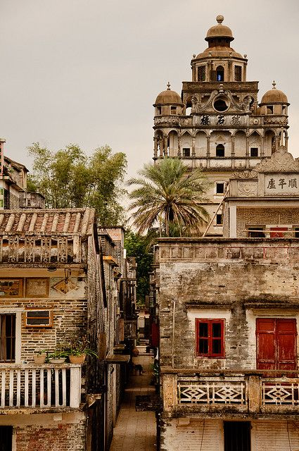 A combination of Eastern and Western culture in Kaiping, China #travel #china #kaiping