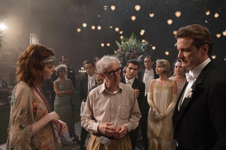 MAGIC IN THE MOONLIGHT, Emma Stone, director Woody Allen, Colin Firth, 2014 | Essential Film Stars, Colin Firth http://gay-themed-films.com/film-stars-colin-firth/
