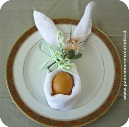 Bunny Napkin Origami for the Easter Table | Edible Crafts | CraftGossip.com