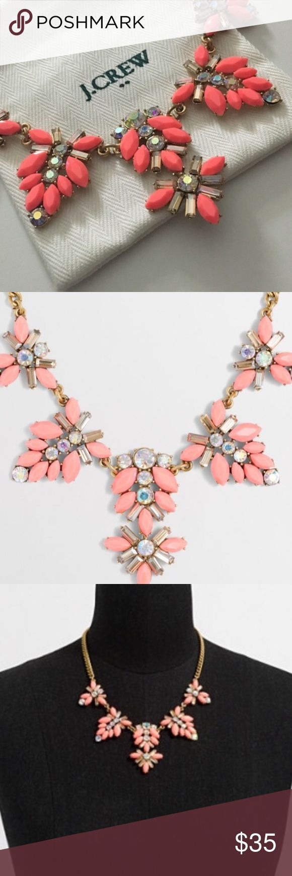 J Crew Necklace ✨ Bright pink J Crew necklace ✨ New with tags ✨ Comes with jewelry pouch ✨ J. Crew Jewelry Necklaces