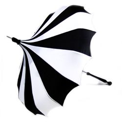 Im into black and white stripes lately. Love this pagoda umbrella.