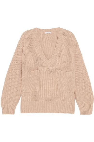 Chloé - Oversized Knitted Sweater - Antique rose -