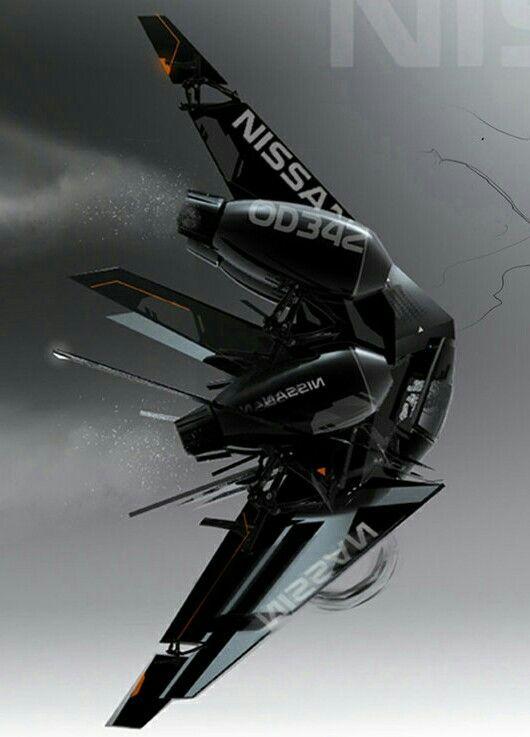 Futuristic Military VANT Drone Spaceship