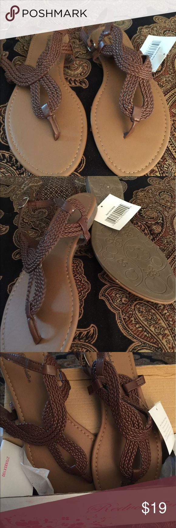 New...gladiator flat sandal size 10 New item with box.. Gladiator Flat sandal with T-strap ...durable TPR outsole...soft PU insole...braided upper ...size 10... run true to size!!! Shoes Sandals