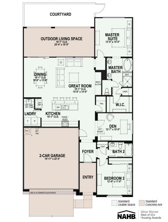 Viva Floorplan - Villa home in Arizona