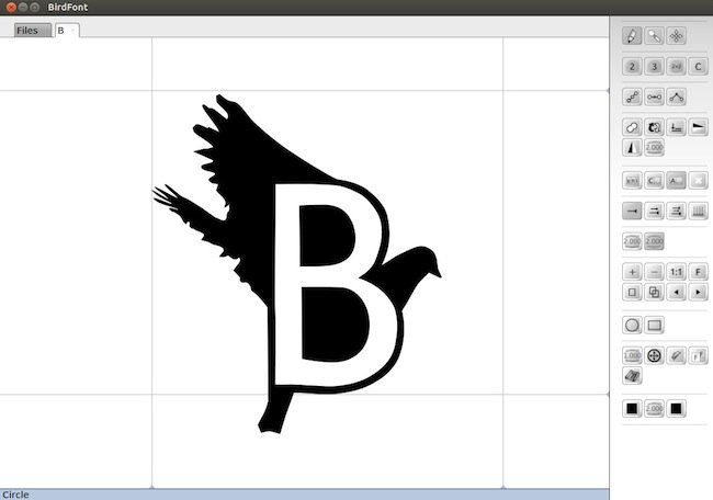 bird2 Birdfont   Créer une police de caractère