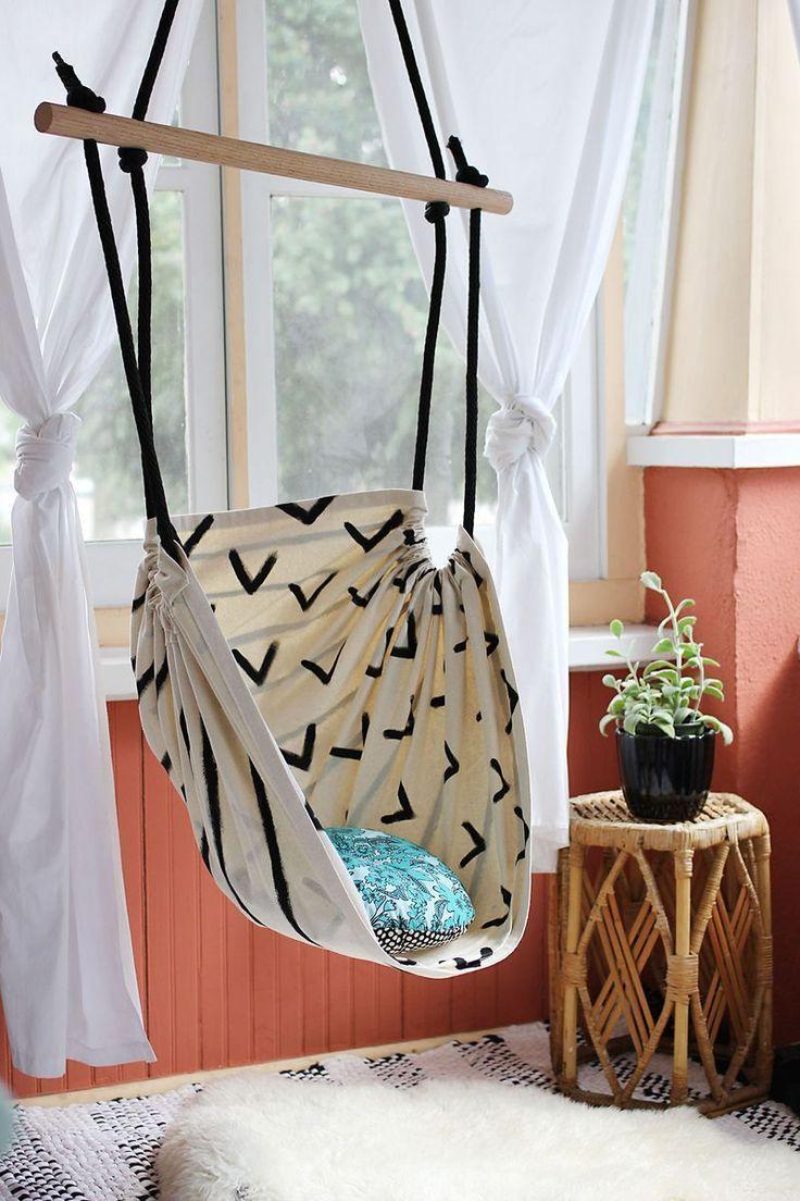 DIY Hammock Chair   23 Cute Teen Room Decor Ideas for Girls