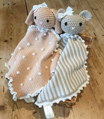 Crochet Animal Taggy Blankets