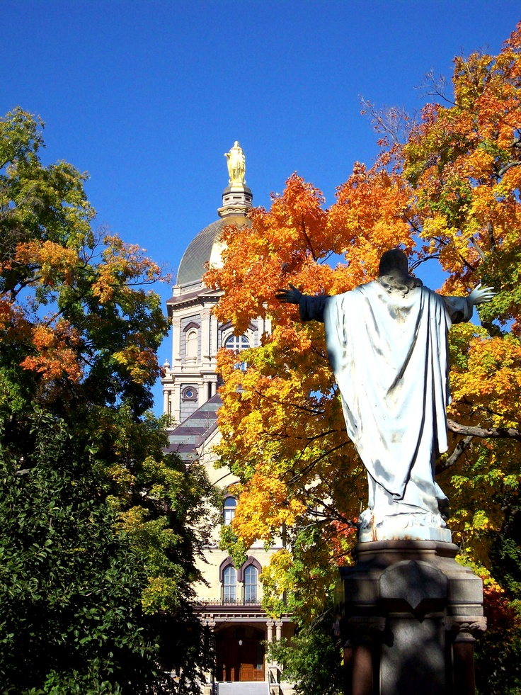 "The University of Notre Dame. Like the Irish? Be sure to check out and ""LIKE"" my Facebook Page https://www.facebook.com/HereComestheIrish Please be sure to upload and share any personal pictures of your Notre Dame experience with your fellow Irish fans!"