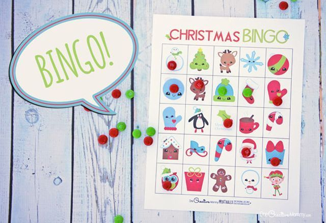 Free, Printable Christmas Bingo Cards for a Family Fun Night: Free Christmas Bingo Cards from One Creative Mommy