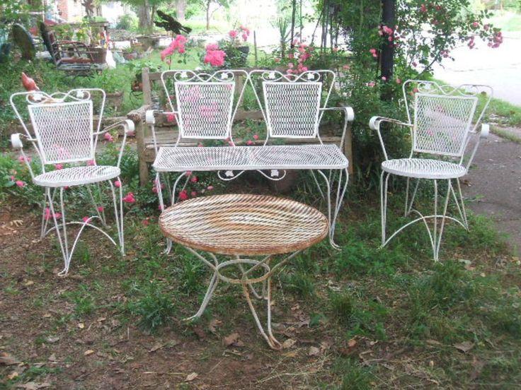 Garden Furniture White 253 best vintage garden furniture images on pinterest | garden