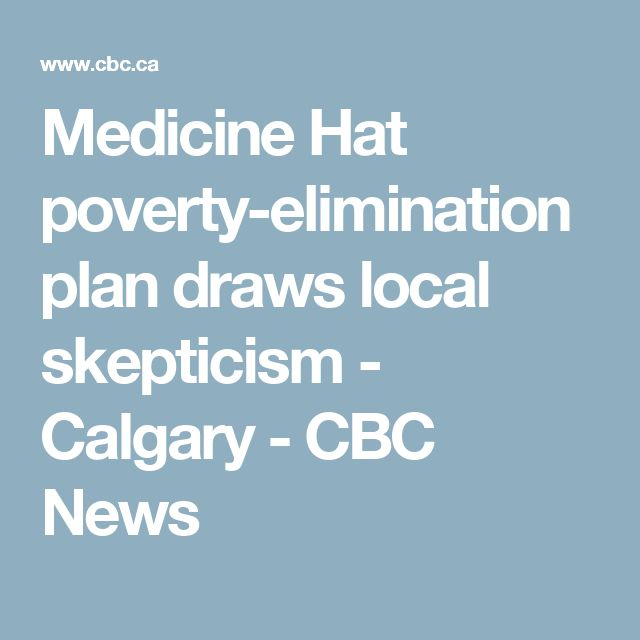 Medicine Hat poverty-elimination plan draws local skepticism - Calgary - CBC News