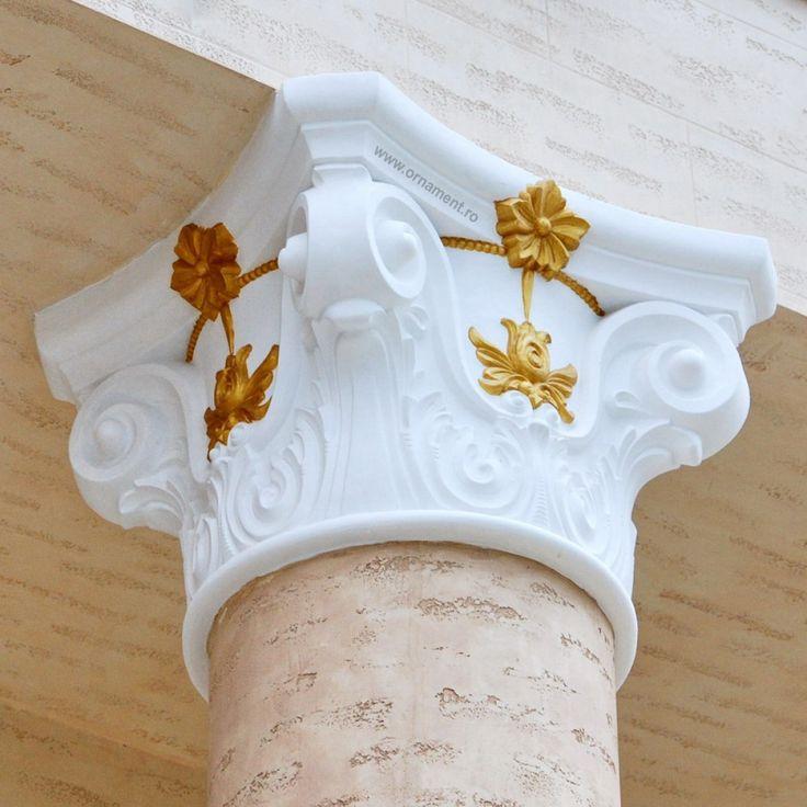 Capitel Corintic pentru Coloana Ornamentala din beton