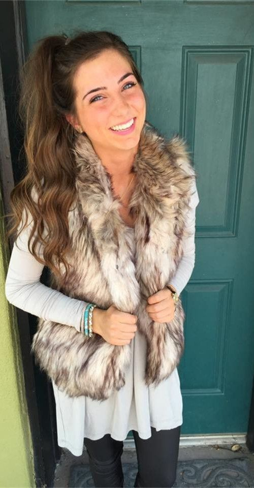 Friend or Faux Fur Vest
