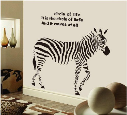 Attractive Ou0027plaza® Funky Zebra Animal Removable Vinyl Wall Sticker Home Art Decor Wall  Decals Part 25