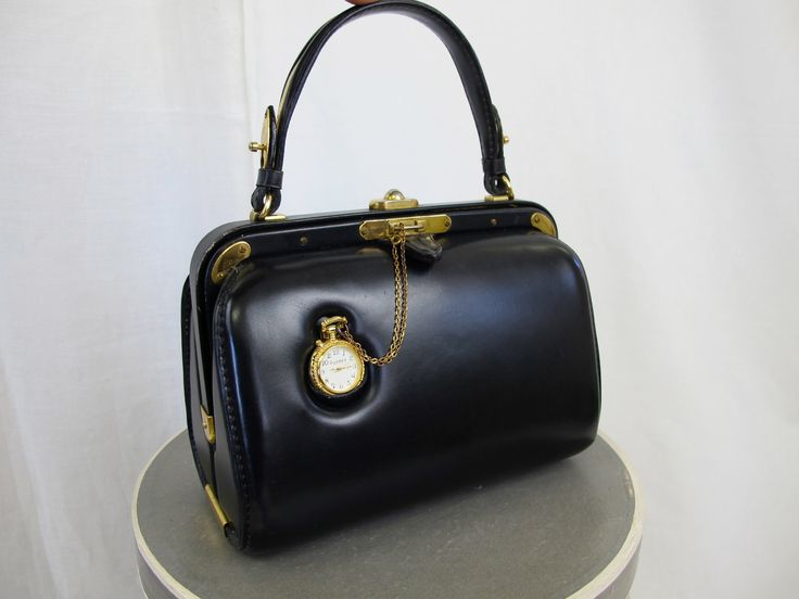 1950's Vintage Clock Handbag by Fernande Desgranges