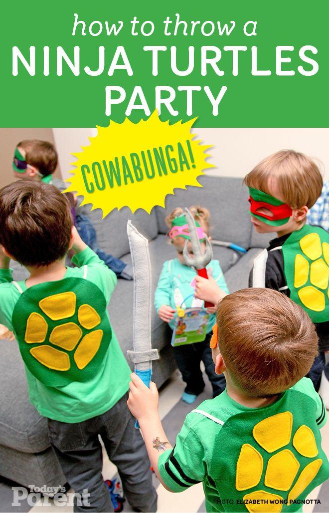 Cowabunga: How to throw a Ninja Turtles party! #ninjaturtles #birthday #parties
