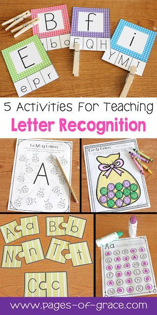 Are you looking for some great activities for teaching letter recognition? Help your students master uppercase and lowercase letters with this activity packet. Kids practice identifying letters with 3 engaging worksheets and 2 fun center activities. Great