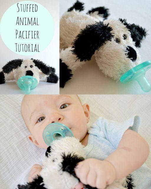 Stuffed Animal Pacifier Tutorial Baby Boy Stuff