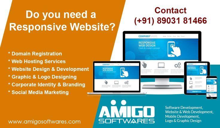 Responsive Web Design Domain Hosting Domainhosting Domain Hosting Get A Fully Developed And Customized Responsive Web Web Design Responsive Web Design