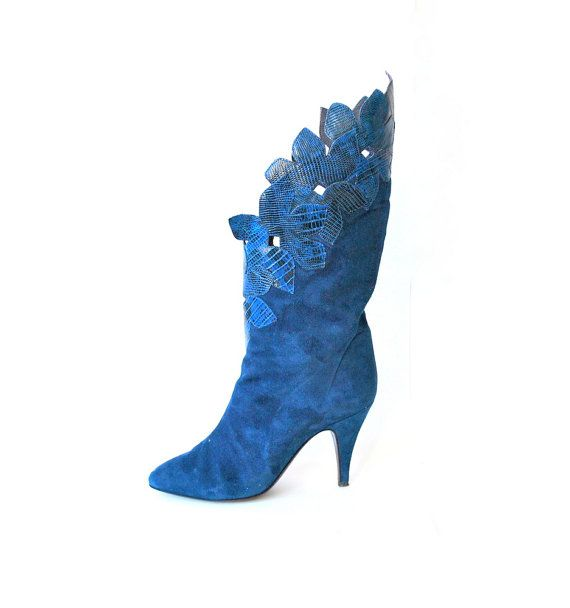 109 best Blue Suede Boots and Shoe Luv images on Pinterest