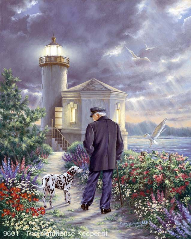 ART~ The Lighthouse Keeper ~ by Donna Gelsinger ~
