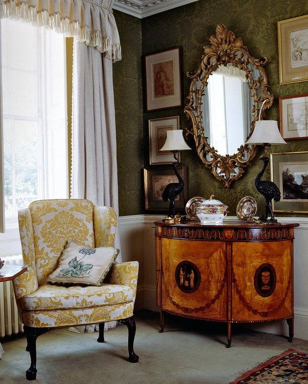 Traditional Interior By All The Rules The Mirror Will Help Set The
