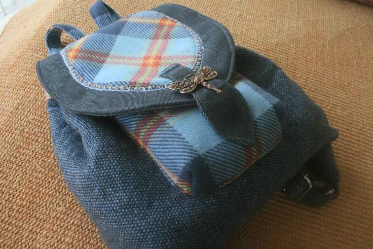 Mochila pequena ~ AURORA arts & crafts fabric backpak