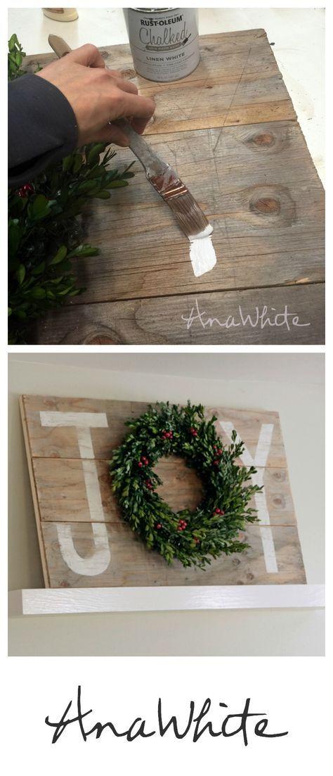Ana White   Build a Joy Holiday Sign Christmas Wall Art   Free and Easy DIY…
