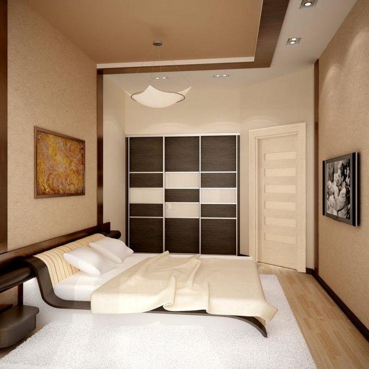 Длинные узкие спальни дизайн фото