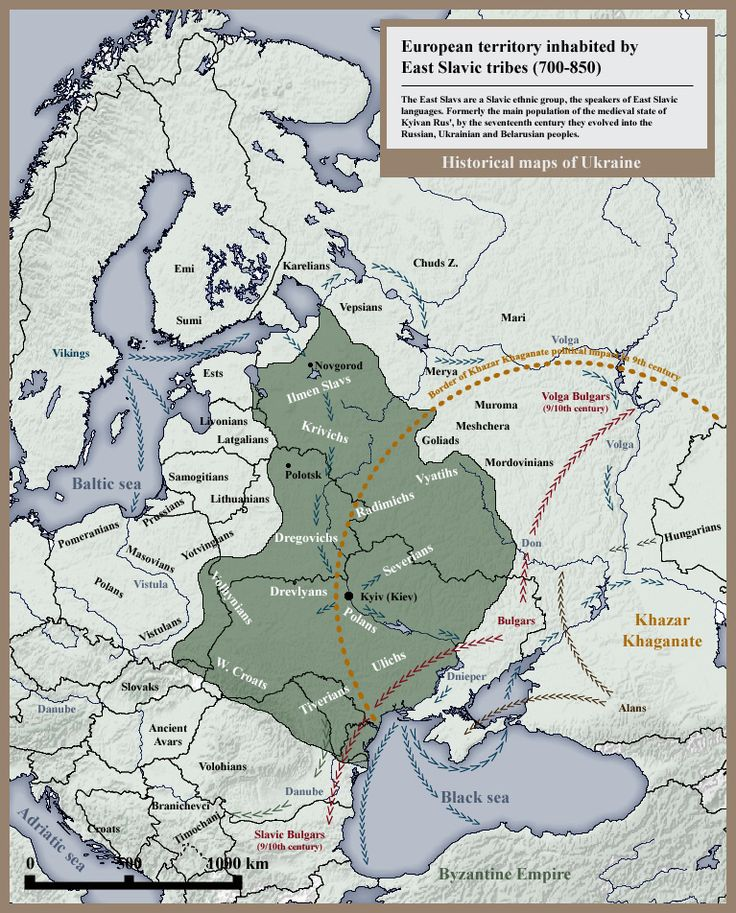 European Territory Inhabited By East Slavic Tribes They Were Formerly The Main Population Of The Medieval State Of Kyivan Rus By The Seventeenth Century